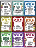 First Grade Math Units 1-9 BUNDLE