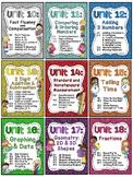 First Grade Math Units 10-18 BUNDLE (Centers, worksheets,