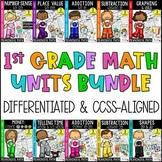 First Grade Math Units BUNDLE  {CCSS Worksheets, Centers, Activities}