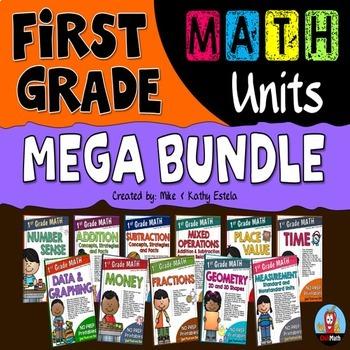 First Grade Math Units BUNDLE