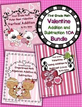 First Grade Math {Valentine} 1.OA Bundle