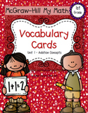 First-Grade Math Vocabulary - BUNDLE {My Math Series - ALL Units}{CCSS aligned}