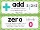First Grade Math Vocabulary Cards