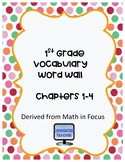 Math Vocabulary Cards Math in Focus Chapters 1-4