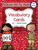 First-Grade Math Vocabulary {My Math Series - Unit 1}{CCSS aligned}