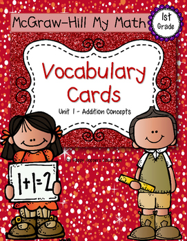 First-Grade Math Vocabulary {My Math Series - Unit 1}{CCSS aligned}