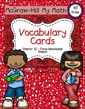 First-Grade Math Vocabulary {My Math Series - Unit 10}{CCSS aligned}