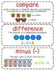 First-Grade Math Vocabulary {My Math Series - Unit 2}{CCSS