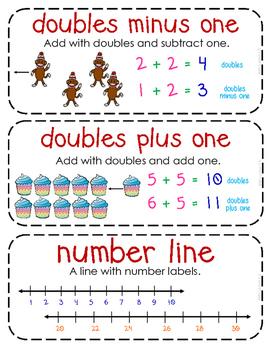 First-Grade Math Vocabulary {My Math Series - Unit 3 & 4}{CCSS aligned}