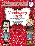 First-Grade Math Vocabulary {My Math Series - Unit 3 & 4}{