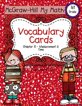 First-Grade Math Vocabulary {My Math Series - Unit 8}{CCSS aligned}