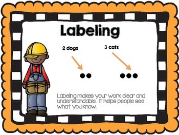 First Grade Math Vocabulary Posters -Common Core