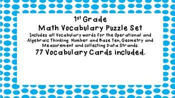 First Grade Math Vocabulary Puzzles
