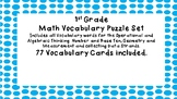 First Grade Math Vocabulary Puzzles