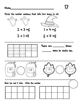 First Grade Math Warm-Ups * October