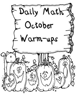 First Grade Math Warm-Ups * October