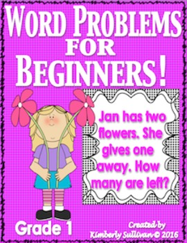 Word Problems First Grade Task Cards  Centers