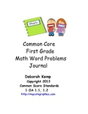 First Grade Math Word Problems Journal Common Core Aligned