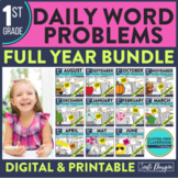 First Grade Math Word Problems for the Whole School Year Bundle