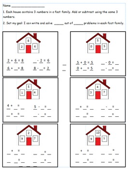 First Grade Math Worksheet Using CC I can statements For 1.OA.4