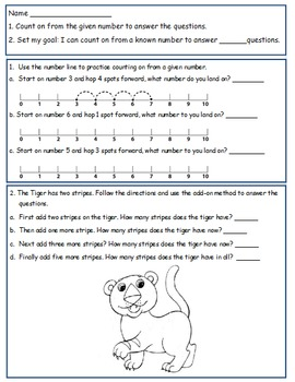 First Grade Math Worksheet Using CC I can statements For 1.OA.5