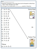 First Grade Math Worksheet Using CC I can statements For 1.OA.7