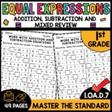 First Grade Math Worksheets 1.OA.d.7 STANDARD Practice to