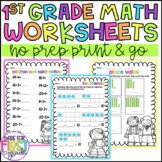 First Grade Math Worksheets: Addition Subtraction, Place Value & More!