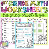 First Grade Math Worksheets: Addition Subtraction, Place V