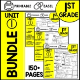First Grade Math Worksheets Unit 1 BUNDLE