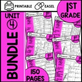 First Grade Math Worksheets Unit 4 BUNDLE
