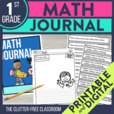 Math Writing Prompts and Journal Cover for 1st Grade | Dig