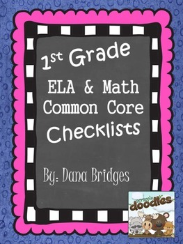 First Grade Math and ELA Common Core Checklists