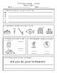 First Grade Math and Language Homework Pack Set 1