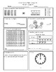 First Grade Math and Language Homework Set 3