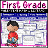 First Grade Math and Literacy Activities for Valentine's Week