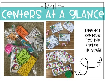 First Grade Math and Phonics Centers (Summer)