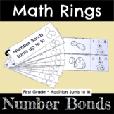 First Grade Math for Addition Number Bonds for Sums up to 10