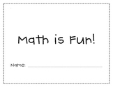 "First Grade ""Math is Fun"" Math Review"