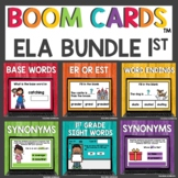 First Grade May End of Year ELA Boom Cards™ Digital Activities