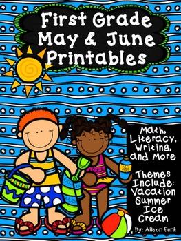First Grade May & June Printables