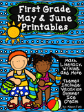 First Grade May & June Printables