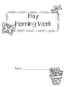 First Grade May Morning Work