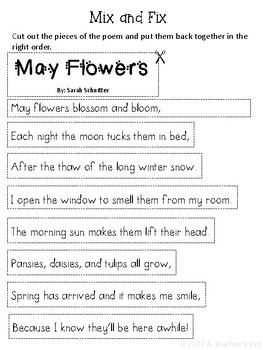 First Grade May Poetry Shared Reading