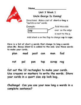 First Grade McGraw Hill Reading Wonders Unit 3 Enrichment Packet