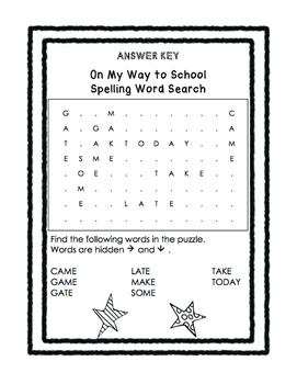 First Grade McGraw Hill Reading Wonders Unit 3 Spelling Word Searches!