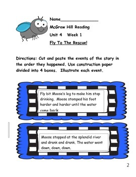 First Grade McGraw Hill Reading Wonders Unit 4 Enrichment Packet