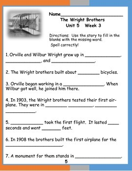 First Grade McGraw Hill Reading Wonders Unit 5 Enrichment Packet