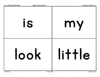 First Grade McGraw-Hill Wonders Start Smart Weeks 1-3