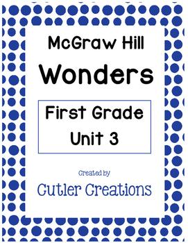 First Grade McGraw Hill Wonders Unit 3 Homework
